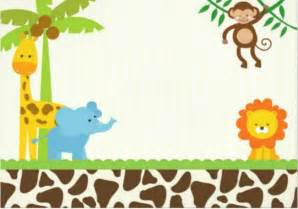 Non Baby Shower Invitation by 16 Safari Animal Templates Images Jungle Animals Baby