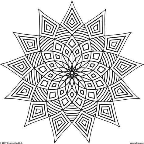 easy geometric coloring pages coloring home