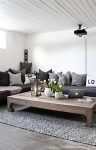 Weiß Graues Sofa : wohnzimmer skandinavisch landhaus stil graues sofa holz ~ A.2002-acura-tl-radio.info Haus und Dekorationen