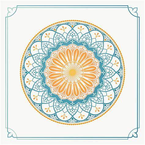 colorful arabesque patterned design element transparent