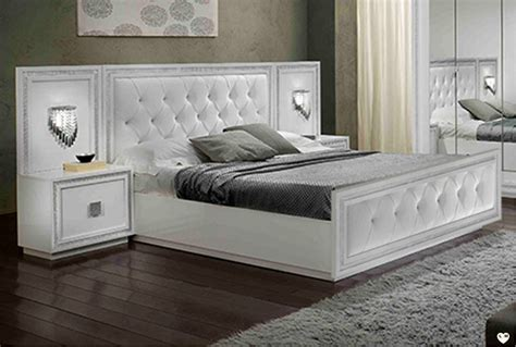 chambre lit blanc kristel laque blanc ensemble chambre a coucher votre site