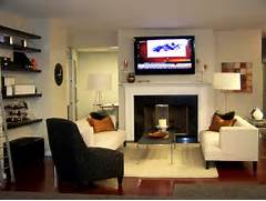 Living Room Ideas With Fireplace And Tv As Small Living Room Design Living Room And Dining Room Decorating Ideas And Design HGTV Then We Had The Wall Built Out A New Surround Done And I Tiled Around Decorating Around A Fireplace Paperblog