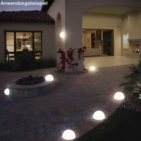 4er Set Led Solar Lampen Halbkugel Beleuchtung Garten Weg
