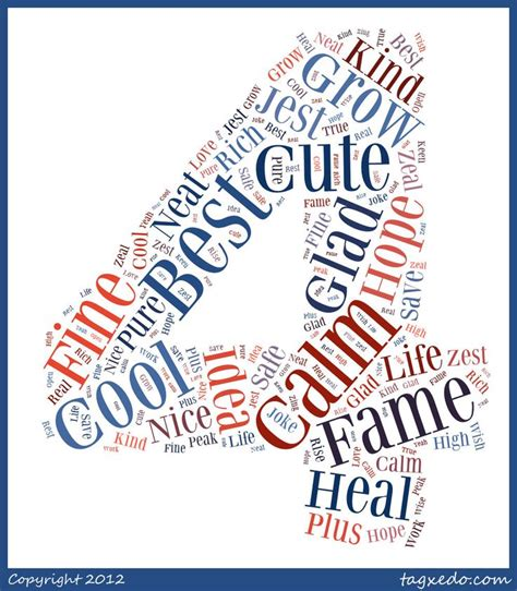 4 letter words to inspire best calm cool cute dear fame