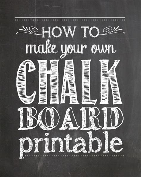 free chalkboard template how to make your own chalkboard printables how to nest for less