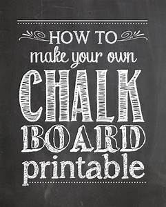 how to make your own chalkboard printables how to nest With chalkboard template microsoft word