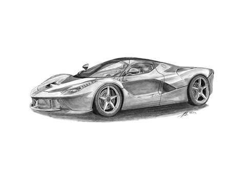 ferrari drawing ferrari laferrari drawing by gabor vida