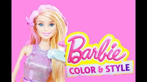 Barbie Color Change Hair Mattel Style Color Me Playset