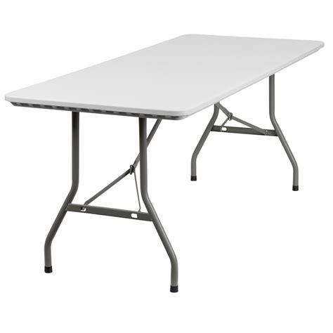 white table l 30 w x 72 l granite white plastic folding table