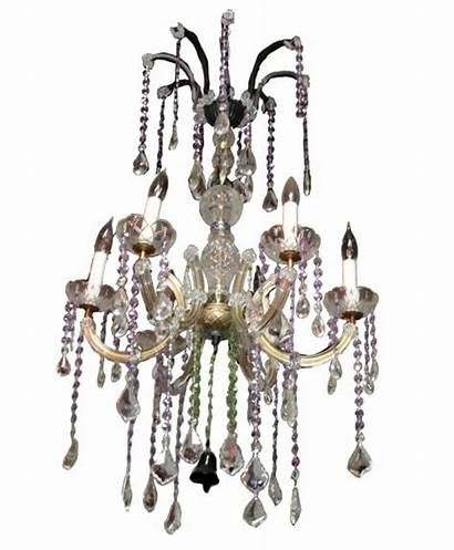 Canopy Chandelier Five Iron Crystal Glass