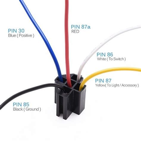 12v 30 40 5 pin spdt automotive relay with wires