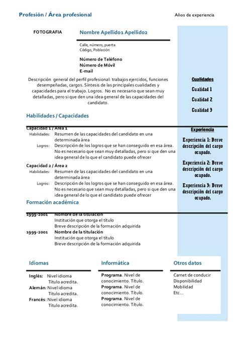 De Cv by Modelo De Curriculum Vitae Por Competencias Modelo De