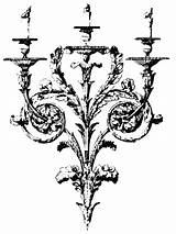 Clip Baroque Gothic Clipart Candelabra Candle Holders Fairy Holder Graphics Negro Illustration Drawing Library Chandelier Antique Frames Cliparts Clipground Put sketch template