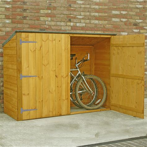 cycle storage sheds 6 x 2 pent wooden bike store
