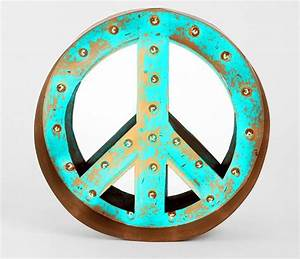 peace marquee home pinterest With peace sign letter