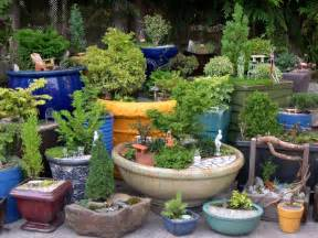Pot Plants For Patios by Indoor And Outdoor Container Ideas For Miniature Gardening