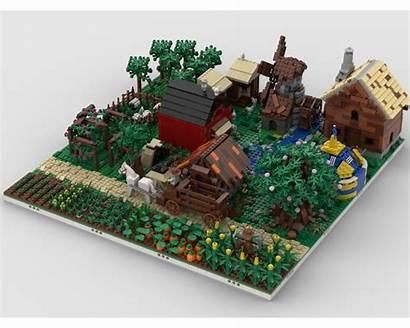Moc Modular Mocs Farm Village Build Lego