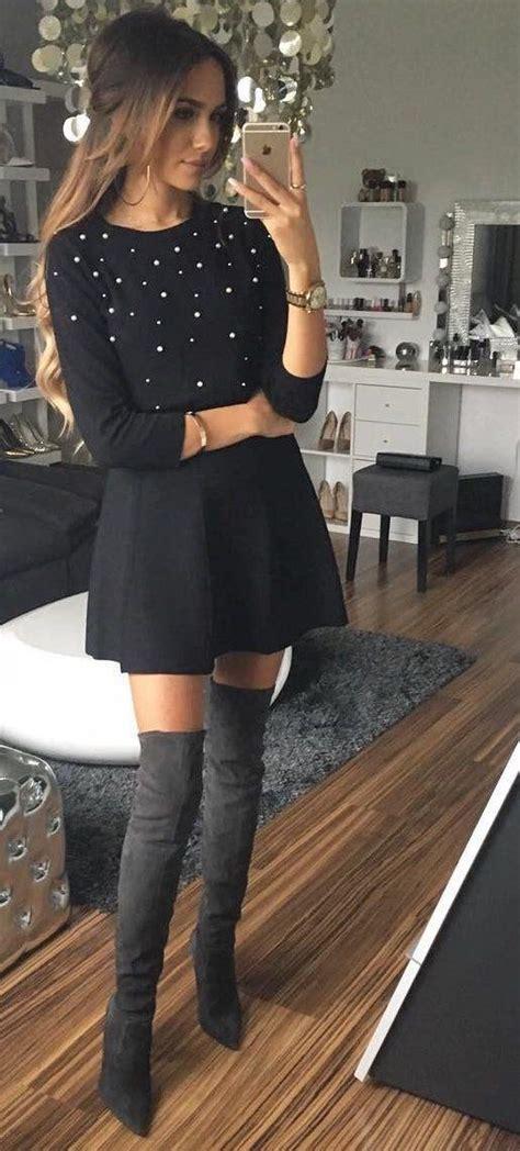 Outfits con botas largas otou00f1o - invierno 2017 - 2018 | Beauty and fashion ideas Fashion Trends ...