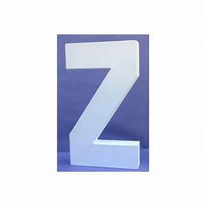 Lettre En Carton À Peindre : lettre 3d z 12cm maison pratic boutique pour vos loisirs creatifs et votre deco ~ Nature-et-papiers.com Idées de Décoration