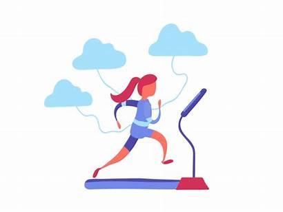Data Running Treadmill Animation Walk Dribbble Run