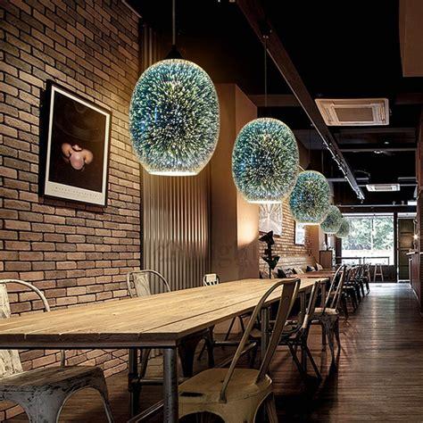 kitchen lighting fixtures island 3d colored glass shade bar pendant lights