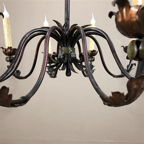 Vintage Wrought Iron Chandelier by Antique Wrought Iron Chandelier