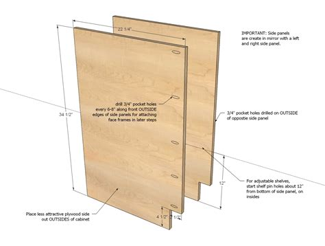 diy kitchen cabinets plans ana white 42 quot base blind corner cabinet momplex