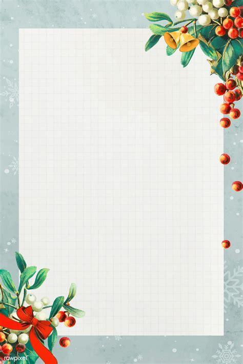 premium vector  blank rectangle christmas frame