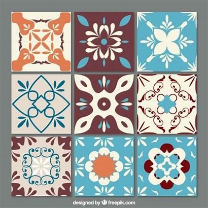 Tiles Vector Tile Freepik Ornamental Azulejos Pattern