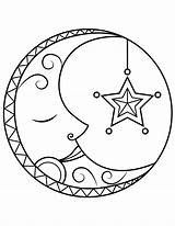 Moon Coloring Printable Sleeping Nature Museprintables Colouring Whitesbelfast Drawing Credit sketch template