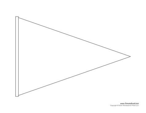 pennant banner template printable pennant banner template triangle banner templates