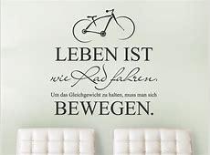 Wandtattoo Leben ist wie Rad fahren WANDTATTOODE
