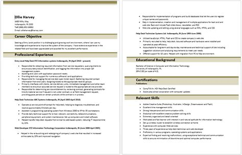 Information Technology Resume Exles by Entry Level Information Technology Resume Entry Level