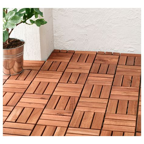runnen floor decking outdoor brown stained 0 81 m 178 ikea