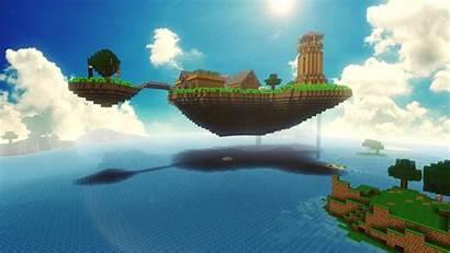 Minecraft Wallpapers Island Videospel Lang