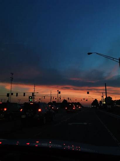 Aesthetic Sunset Wallpapers Road Sunsets Night Adventure