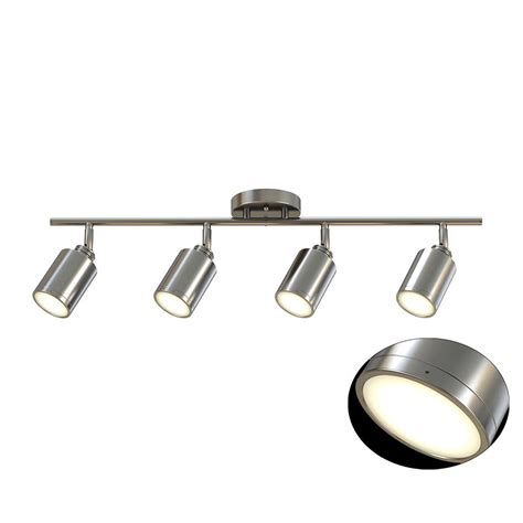 brushed nickel track lighting kits monteaux lighting 31 5 in 4 light brushed nickel