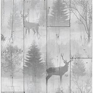 Highland Plank Wallpaper Neutral Wallpaper BM