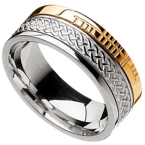 celtic ring 10k yellow gold and sterling silver comfort