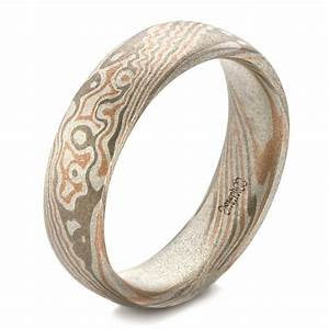 custom men39s mokume wedding band 100673 With mokume wedding rings