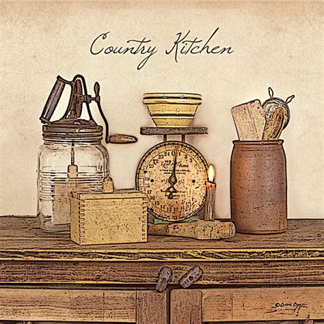 country wall decor for kitchen wall ideas design vintage decorations country 8480