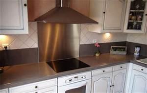 Credence Fond De Hotte : credence de cuisine autocollante 6 inox r233alisation ~ Dailycaller-alerts.com Idées de Décoration