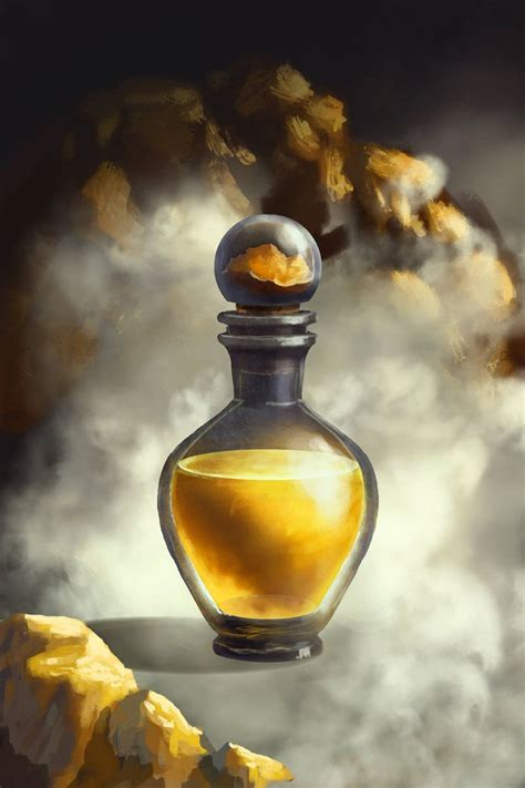 gold potion  artlanding magic bottles fantasy