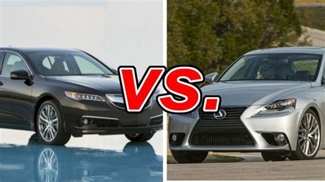 acura tlx vs lexus is 250 carsdirect