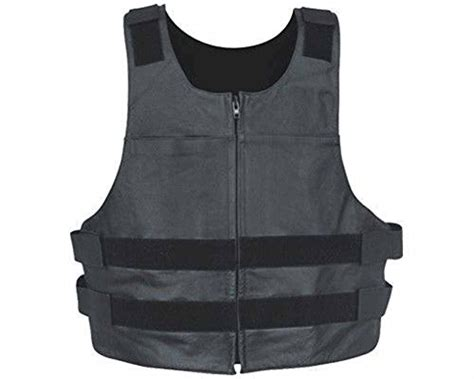Ik Leather Llc Mens Bullet Proof Style Leather Vest Xxx