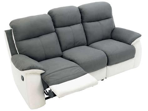 housse pour canapé relax canapé fixe 3 places 2 relaxation manuel en tissu