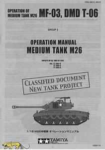 Instructions Bag For Tamiya M26 Pershing  56016  1 16