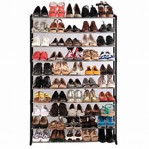 Rangement à Chaussures : meuble rangement chaussures 50 paires ~ Teatrodelosmanantiales.com Idées de Décoration