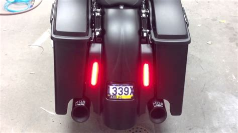 sinister bagger parts  taillight demo  harley