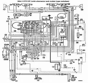 mini 1275gt wiring diagram how a car works With clic mini wiring diagram
